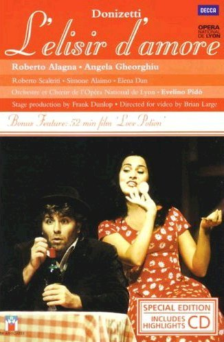 Damore Cd - Donizett - L'Elisir d'Amore / Alagna, Gheorghiu, Scaltriti, Alaimo, Pido, Lyon Opera (Special Edition with Highlights CD)