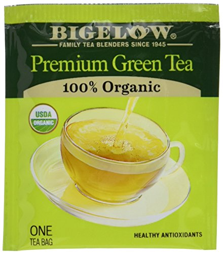 Bigelow Premium Green Tea Bags, 176 Count Box, Caffeinated Individual Green Tea Bags, for Hot Tea or Iced Tea, Drink Plain or Sweetened with Honey or ()