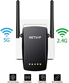 AC1200 2.4GHz//5GHz Dual Band WiFi Repeater /& Router Wireless-N Range Extender