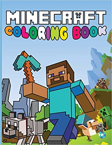 minecraft coloring book fun minecraft drawings for kids amazoncouk 9781499168518 books - Minecraft Coloring Books