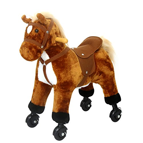 Horse Toys For Girls : Kinbor kids girls boys walking pony ride on horse rocking