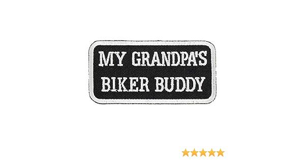 My Granpa/'s Biker Buddy Iron on or Sew Embroidered Patch