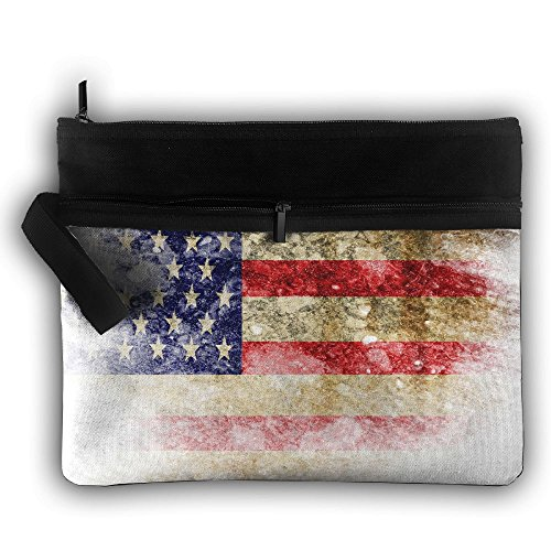 Vintage American Flag Multifunction Storage Bag Buggy Bag Tr