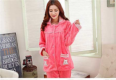 Amazon.com: MH-RITA Flannel Thick Pyjamas Women Coral Fleece Warm Autumn Winter Female Pajama Plus Size Pijamas Mujer Casual Pajamas For Women ,Watermelon ...