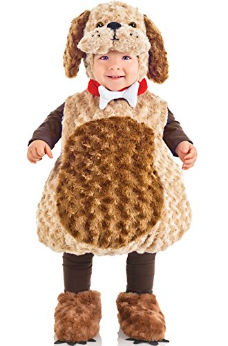 Underwraps Costumes Toddler Puppy Costume - Belly Babies Furry Puppy Costume, Large (2-4) (Toddler Costumes)