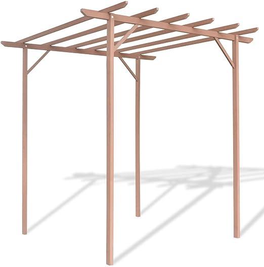 festnight WPC jardín pérgola de madera Arcos con 4 puestos para al ...