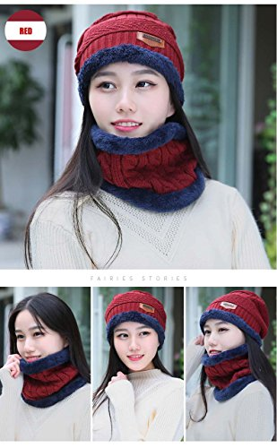 7544793ffbc2 HINDAWI Womens Slouchy Beanie Winter Hat Knit Warm Snow Ski Skull Cap (_Hat  and Scarf