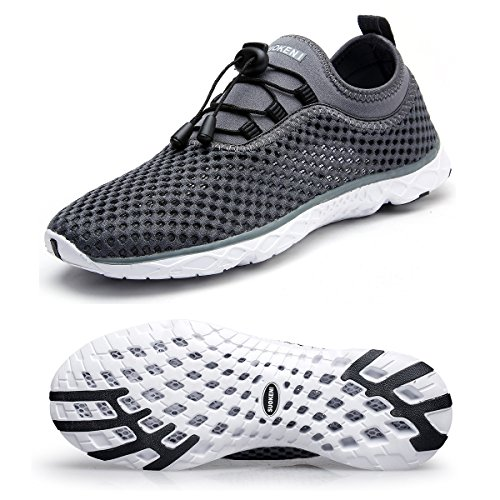 HongYao Men's Water Shoes With Net Surface Quality Breathable Athletic Sport Lightweight For Walking,Dark gray,47 EU,13 D(M) US
