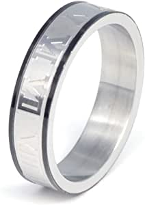 Stainless Steel -Ring Size US 10 for Men-R163