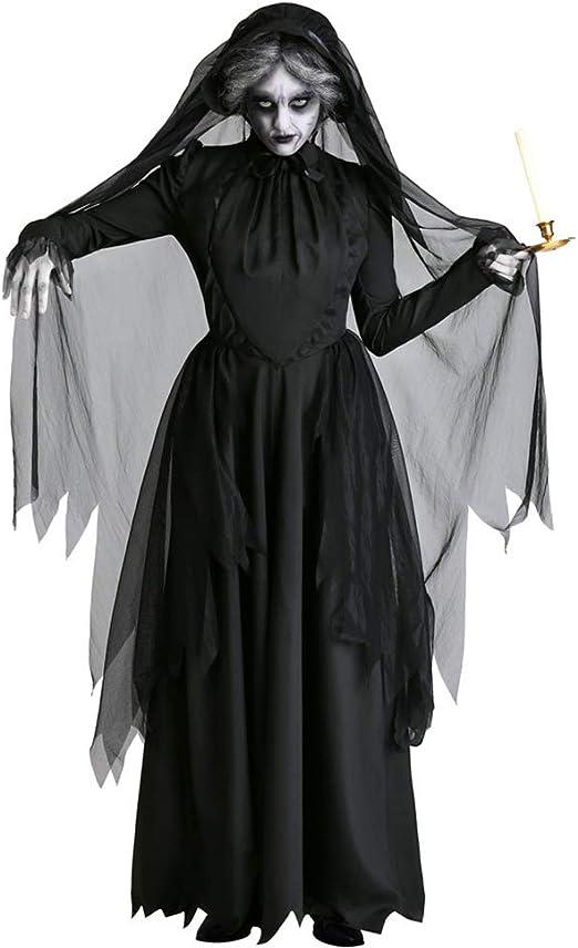 LGP Disfraz de Novia Fantasma de Horror Adulto para Mujer ...