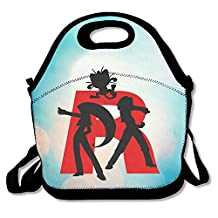 Bakeiy Team Rocket R Letter Lunch Tote Bag Lunch Box Neoprene Tote For Kids And Adults For Travel And Picnic School