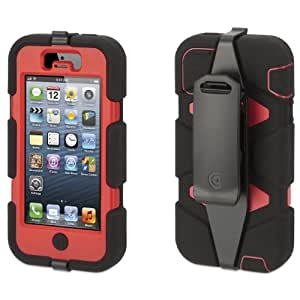Griffin Survivor Protective Case with Belt Clip for Iphone 5 (Black/Red)