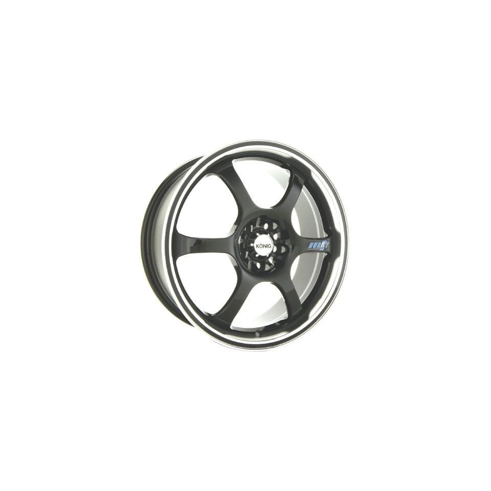 18x7.5 Konig Hurry (Gloss Black w/ Machined Lip) Wheels/Rims 4x114.3 (HU78114455)