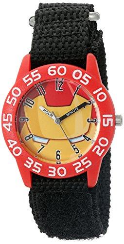 Marvel Boy's 'Iron Man' Quartz Plastic and Nylon  Watch, Color:Black (Model: W003255)
