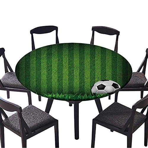 Youdeem-tablecloth Circular Table Cover Soccer Football on Grass Field for Wedding Banquet 59
