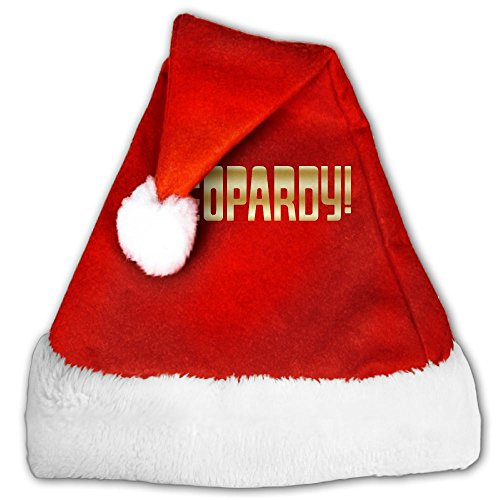 jeopardy gold logo fashion decoration christmas santa claus hats red for adults and kids - Christmas Jeopardy Game