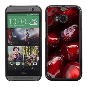 Paccase / SLIM PC / Aliminium Casa Carcasa Funda Case Cover para - Pomegranate Red Fruit Juicy Tasty - HTC One M8