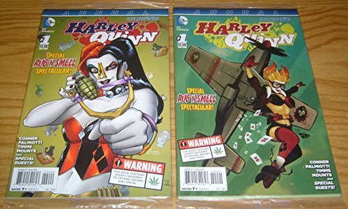 Harley Quinn (2nd series) Annual #1 Special Rub 'N Smell Spectacular + bombshell variant VF/NM (JCBS (Spectacular Shell)