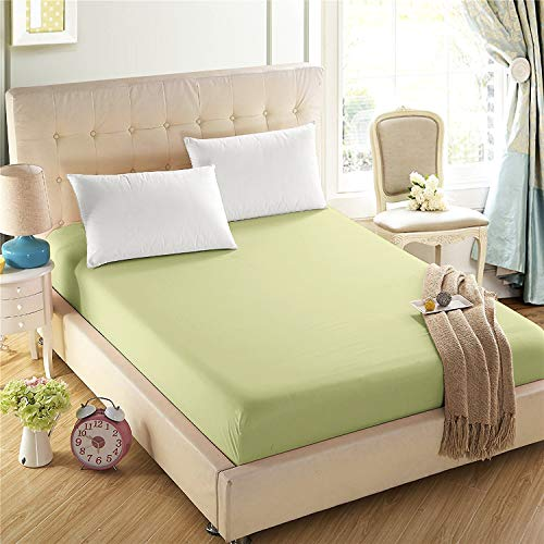 4U Life Bedding Fitted sheet-Prime 1800 Series , Double Brushed Microfiber,Ultra-soft Feel And Wrinkle,Fade Free , Deep Pocket For Oversized Mattress, Twin, Apple Green (Green Apple Sheets)