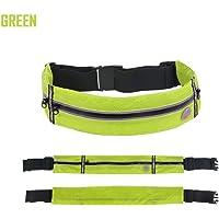 Myonly Outdoor Slim marsupio unisex Phone bag marsupio running impermeabile da cintura per arrampicata ciclismo da corsa, verde