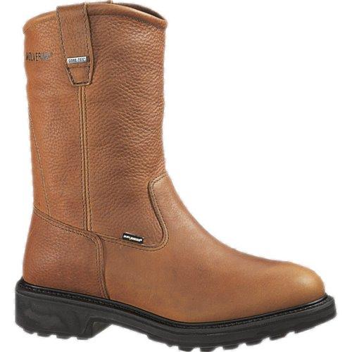 Wolverine Durashocks 2573 SR Gore-tex Safety Toe Wellington Boot - Brown - 11EW