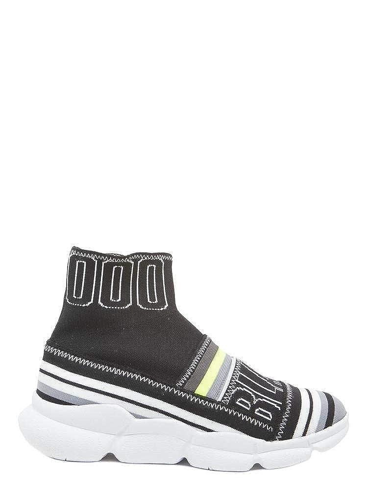 - MSGM Women's 2442MDS17505 Black Cotton Slip On Sneakers