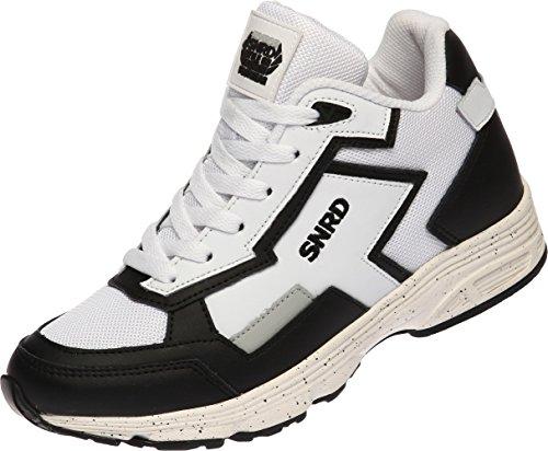 SNRD - 712 Cool Einlegesohle Aufzug Unisex Casual Fashion Sneakers Weiß/Schwarz