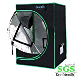 Quictent SGS Approved Eco-Friendly 96'x96'x78' Reflective Mylar Hydroponic Grow Tent with Observation Window and Waterproof Floor Tray for Indoor Plant Growing 8'x8'