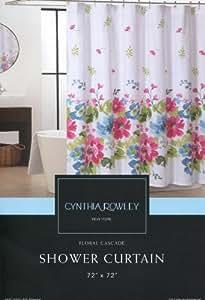 Amazon Com Cynthia Rowley Floral Cascade Fabric Shower