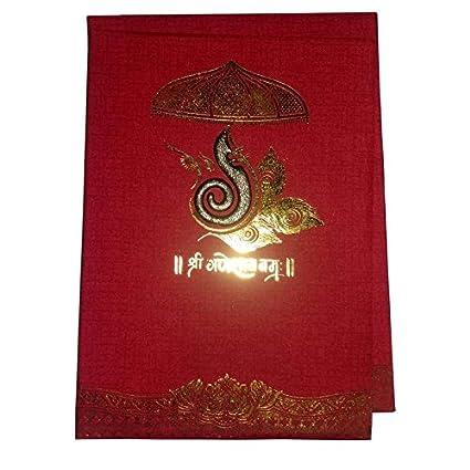 Rishabh Contemporary Design Of Wedding Card For Hindu Marriage