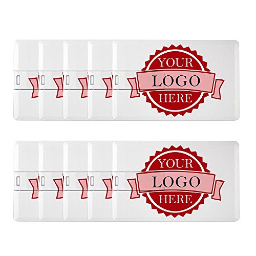 Thumbdrive Memory Stick - Personalized Credit Card USB Flash Drive Custom Logo Memory Stick Thumbdrive Bulk Pack (30PCS 4GB)