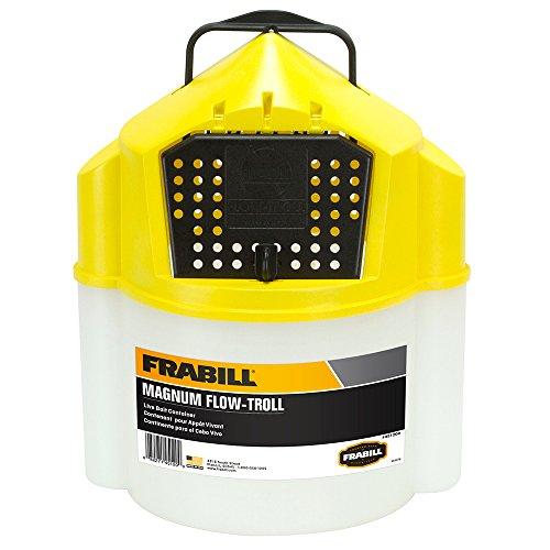 Frabill Flow-Troll Magnum Minnow Bucket, 10-Quart -