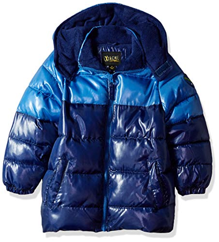 iXtreme Baby Boys Infant Tonal Print Colorblock Puffer