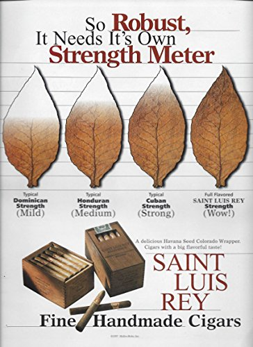 PRINT AD For Saint Luis Rey Cigars: Needs It's Own Strength MeterPRINT AD