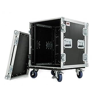 """NSP Cases 12U rack Case – Amplificador de 19 """"Rack Maleta con ruedas"""