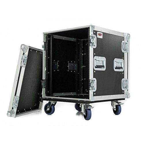 "NSP Cases 12U rack Case – Amplificador de 19 ""Rack Maleta ..."