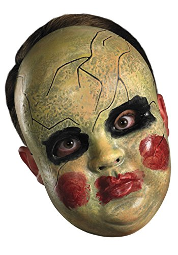 [Smeary Baby Doll Face Mask Costume Accessory] (Halloween Costumes Scary Doll)