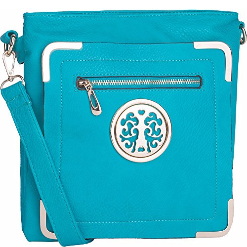 MKF Collection by Mia K. Farrow Courier Fun to Wear Crossbody (Turquoise)
