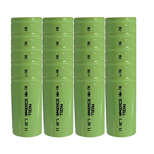 NiMH Sub C Sc high Capacity 3600mAh Rechargeable battery … (20PC) by PK Cell