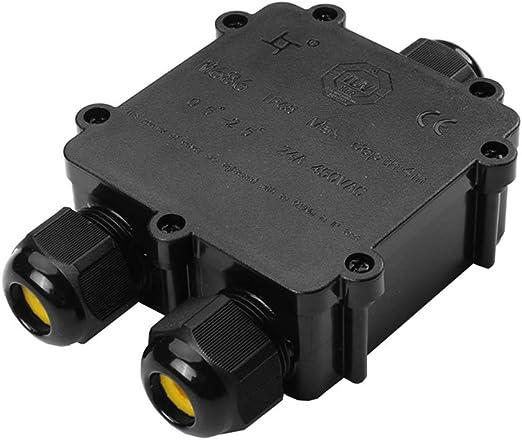 Boite de Jonction /Ø 1mm-13mm-Facile /à Installer Paquet de 2 Boitier Electrique IP68 Boite de Derivation Etanche Noir, PVC