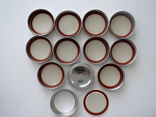Mason Jar Wide Mouth Lids and Bands/Lot of 12 by Ball