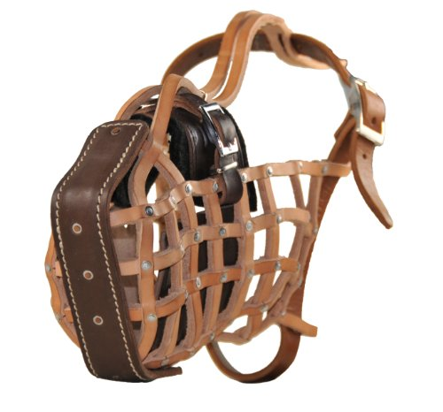 Dean & Tyler D&T Guardian Muzzle GSD L The Guardian Leather Muzzle, No. N8-Large German Shepherd, Brown by Dean & Tyler