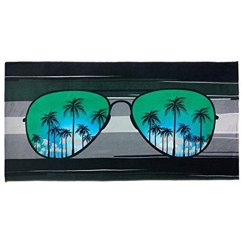 Sunglass Beach Towel Color: Blue