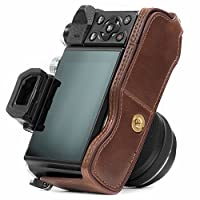 "MegaGear ""Ever Ready"" Leather Half Bottom Camera Case, Bag (Bottom Opening Version) – Protective Cover for Olympus OM-D E-M10, OM-D E-M10 Mark II"