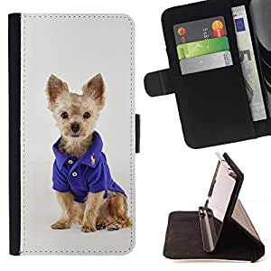 Momo Phone Case / Flip Funda de Cuero Case Cover - Cachorro Terrier australiano peque?o de la manera perro; - Samsung Galaxy J1 J100