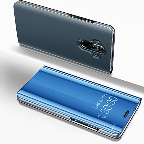Huawei mate 10 pro case Holder Phone Case Electroplate Clear Smart Kickstand Mirror View Flip Cover for Huawei mate 10 pro (2, Huawei mate 10 pro)