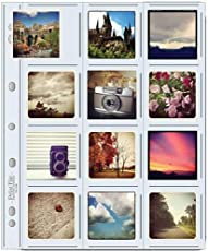 """Print File Archival Storage Page for 2.5x2.5"""" Prints, 10 Pack"""