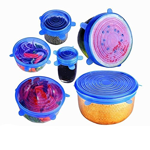 OutDOOR MasH Silicone Covers, Reuseable Silicone Lids, Keep Your Food Fresh and Tasty