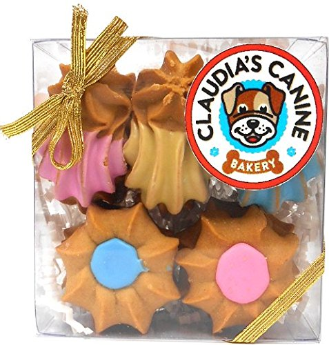Claudia's Canine Bakery - Peanut Butter Goobers and Shortbread - Gourmet Dog Treat Gift Box (Treat Gifts)