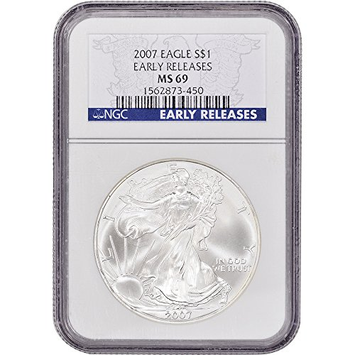 2007 American Silver Eagle $1 MS69 - Early Releases NGC